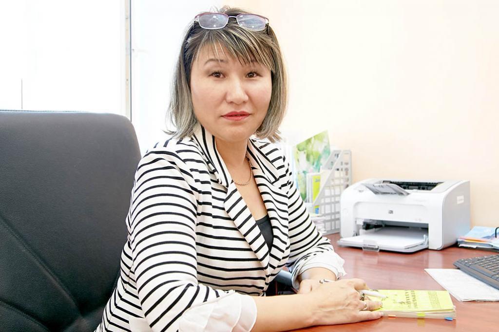 Зиада Бисахалова, руководитель  отдела  департамента экологии по Костанайской области