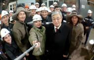 Металлурги «Казцинка» сделали селфи с Президентом