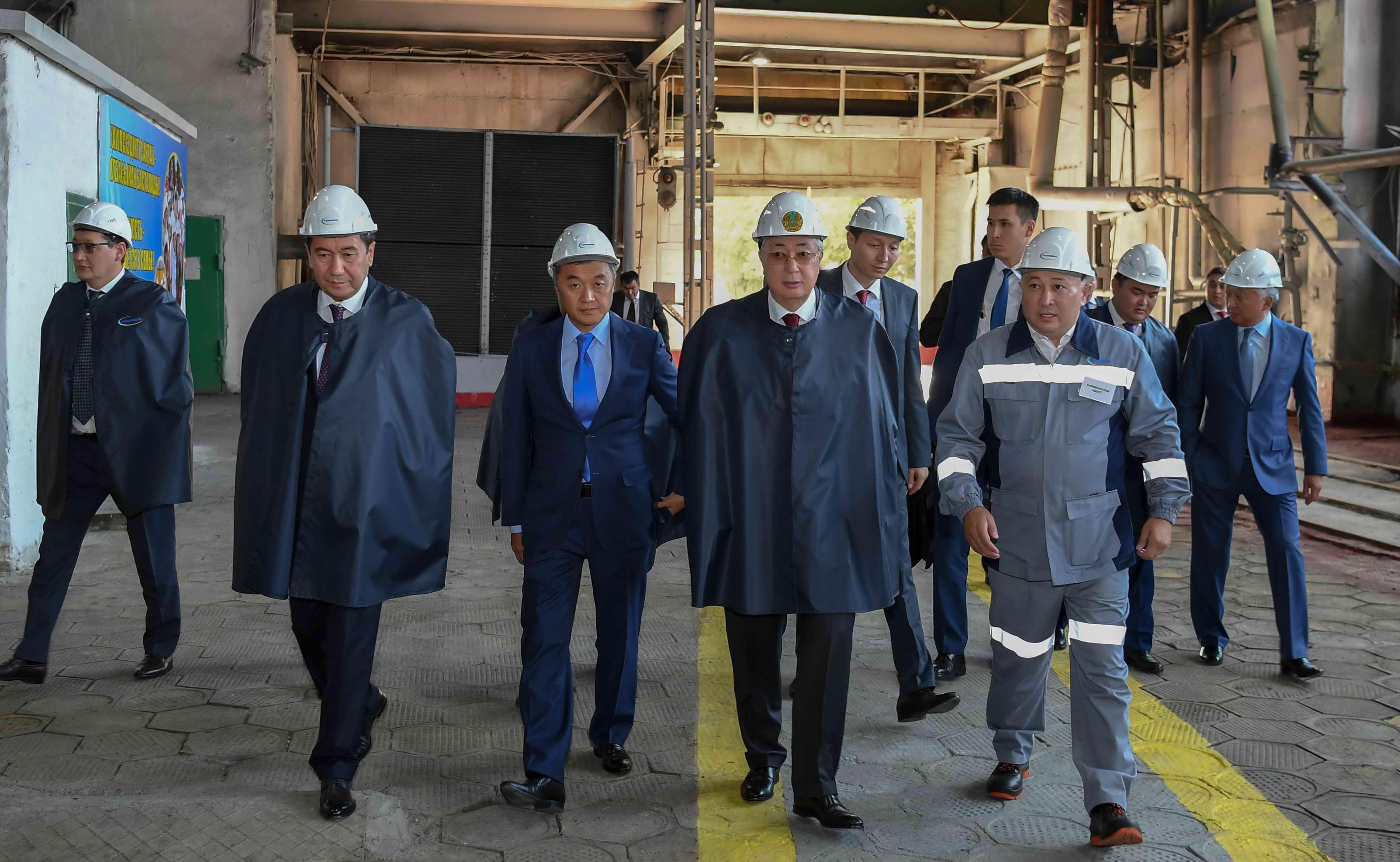 Президент Казахстана посетил Жезказганский медеплавильный завод ТОО «Kazakhmys Smelting»