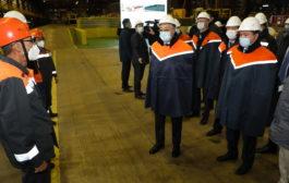 Глава государства посетил металлургический комбинат АО «АрселорМиттал Темиртау»
