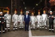 На Актюбинском заводе ферросплавов Главе государства презентовали проект «Народный контроль»