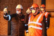 Аким Актюбинской области дал старт разогреву печи на ферросплавном производстве