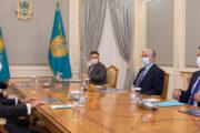 Глава государства принял акционеров ERG Александра Машкевича и Патоха Шодиева